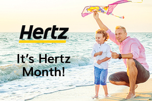 Hertz Car Rental - Save 15% off the base rate of weekly and weekend rentals from April 15 - June 30, 2018.