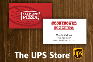 The UPS Store - Save $4.99 on business cards from April 2 - May 15, 2018.